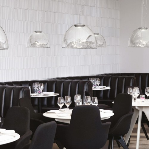The Collection, London, United Kingdom. Architect: Tom Dixon, 2011. Restaurant booths and tables.